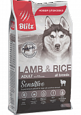 Blitz Adult Lamb&Rise, Корм для собак ягненок рис
