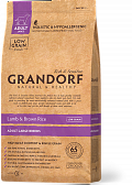GRANDORF Lamb & Rice Adult Maxi, Корм для собак крупные породы, ягненок рис