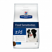 HILLS Prescription Diet z/d Food Sensitivities для собак для здоровья кожи и при пищевой аллергии